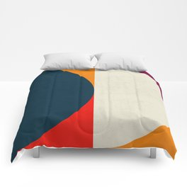 Geometric abstract / half circles Comforters