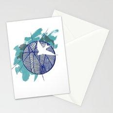 Blue Doodle Stationery Cards