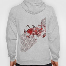 Explorer Schematic Red on White Hoody