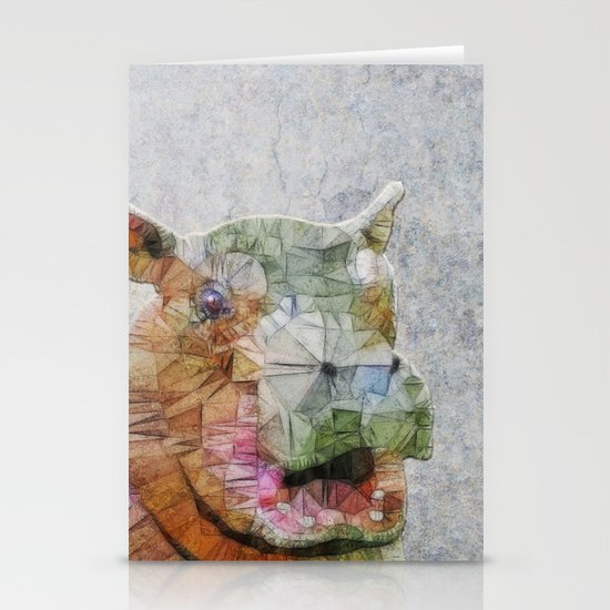 abstract hippo Stationery Cards