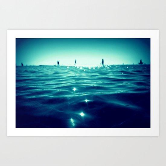 deep water Art Print