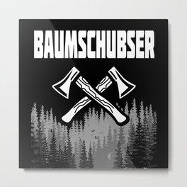 Tree Pushers - Lovers Gift Idea Design Motif Metal Print