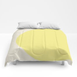 color field - yellow and cream Comforters