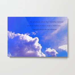 """""""Sunlight Clouds #25"""" with poem """"Twinkling Moment"""" Print Metal Print"""