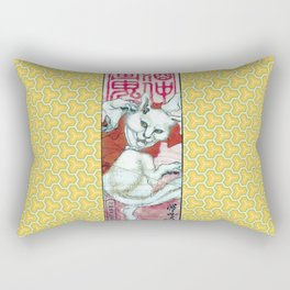 Kyosai Dancing Bakeneko Rectangular Pillow