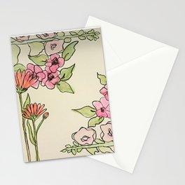 Cornered Floral Stationery Cards