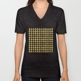 Triangles Black&Gold Unisex V-Neck