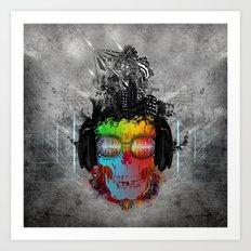 Rebel music Art Print