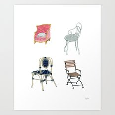 Chairs number 1 Art Print