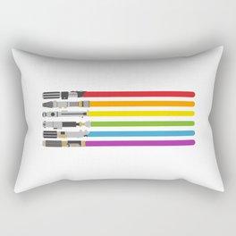 Lightsaber rainbow Rectangular Pillow