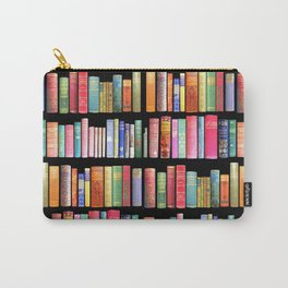 Vintage Book Library for Bibliophile Carry-All Pouch