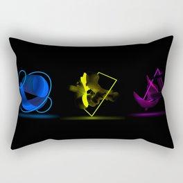 Wood Night triptych Rectangular Pillow
