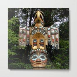 Alaskan Elegant Totem Pole Metal Print