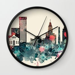 Baltimore City Skyline Wall Clock