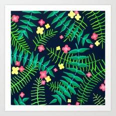 Natures Confetti Leaves  Art Print