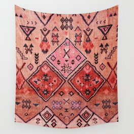 N52 - Pink & Orange Antique Oriental Traditional Moroccan Style Artwork Wall Tapestry
