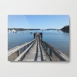 """A Pier on Southwest Harbor"" Photography Metal Print"