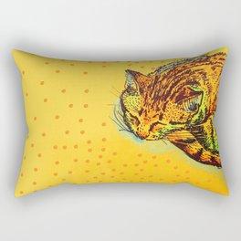 Cat Shimmie (ochre paper)  Rectangular Pillow