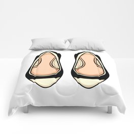 Beige And Black Ballet Flat Shoes Comforters