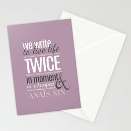 Typography - Anais Nin Stationery Cards
