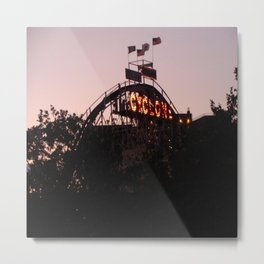 The Cyclone At Dusk NYC Photography Metal Print