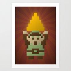 Zelda - Link Triforce Art Print