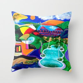Night in Ponce, Puerto Rico Throw Pillow