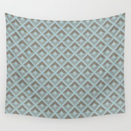 Two-toned square pattern Wall Tapestry