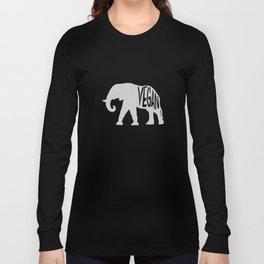 vegan (elephant)  Long Sleeve T-shirt
