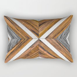 Urban Tribal Pattern No.4 - Wood Rectangular Pillow