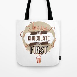 Words of love - Chocolate Tote Bag