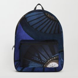 Abandoned blue spiral staircase Backpack