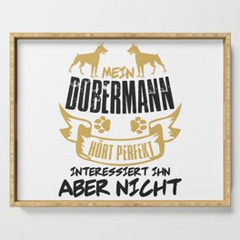 Mein Dobermann Dog Pet Animal Owner Serving Tray