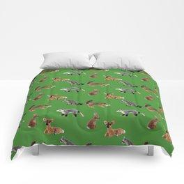 Backyard Critters in Green Comforters