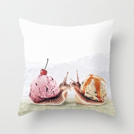 Sweet Snails Throw Pillow