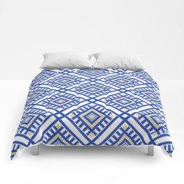 Blue Traditional GeometryPattern Comforters
