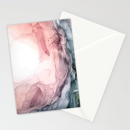 Blush and Blue Dream 1: Original painting Stationery Cards