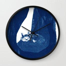 Fox in a burrow Wall Clock
