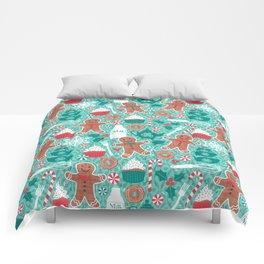 Gingerbread Christmas Treats Comforters