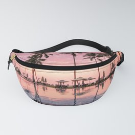 Pastel Sunset Palms Fanny Pack