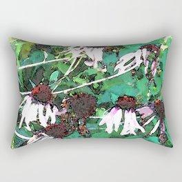 Watercolor Echinacea Rectangular Pillow