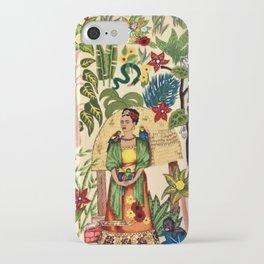 Frida's Garden, Casa Azul Lush Greenery Frida Kahlo Landscape Painting iPhone Case