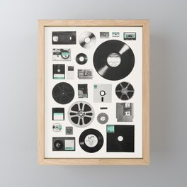 Data Framed Mini Art Print