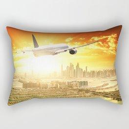 traveling in dubai Rectangular Pillow