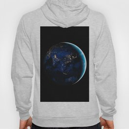 Asia and Australia At Night, Earth From Space, Planet Earth, Space Background, Wall Art Decor Hoody
