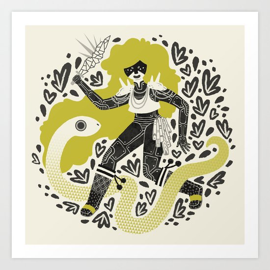 The Serpent Knight Art Print