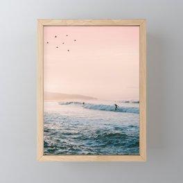Sunset Surf Framed Mini Art Print