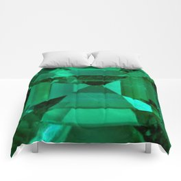 FACETED EMERALD GREEN MAY GEMSTONE Comforters