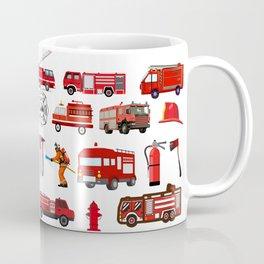 Fire Trucks Emergency Fire Hydrant Coffee Mug