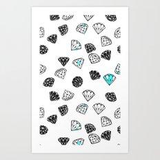 Diamonds On White Art Print